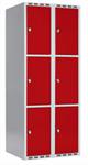 Klädskåp Skåp delad dörr, 3 fack i höjd, B800