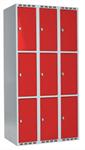 Klädskåp Skåp delad dörr, 3 fack i höjd, B900