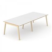 Wood konferensbord Wood mötesbord vitt 280x120 cm