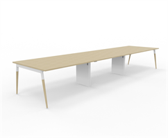 X3 Konferensbord X3 bord med ekben 480x120 cm