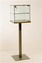 Glaskub Glaskub, display för smycken ur och guld