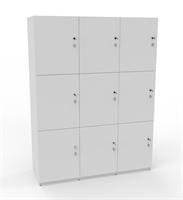 Personlig förvaring Småfacksskåp med 9 dörrar, bredd 120 cm