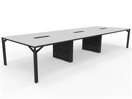 X8 Konferensbord X8 mötesbord längd 420-480 cm, Djup 140 cm