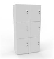 Personlig förvaring Småfacksskåp med 6 dörrar, bredd 80 cm