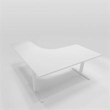 Höj & Sänkbart skrivbord Höj & sänkbart hörnbord högerställt 160x180 cm