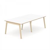 Wood konferensbord Wood mötesbord vitt 240x120 cm