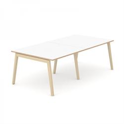 Wood mötesbord vitt 240x120 cm