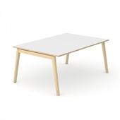 Wood konferensbord Wood mötesbord vitt 160x120 cm