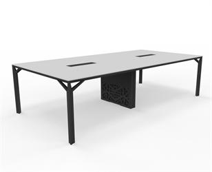 X8 mötesbord längd 280-320 cm, Djup 140 cm