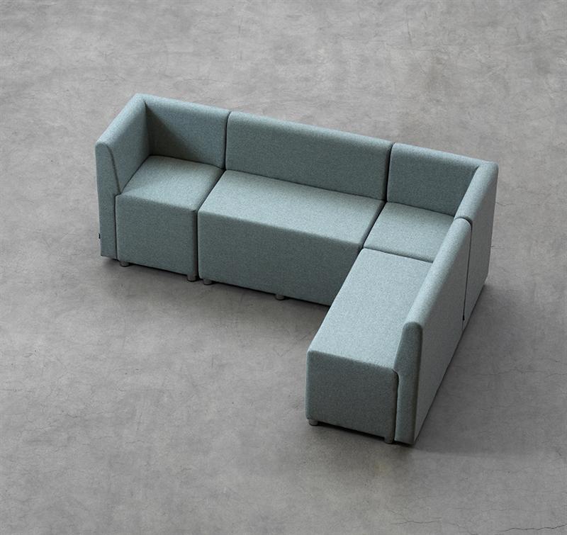soffa utan ryggstöd - B bitz rund byggbar soffa med eller utan ryggstöd