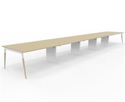 X3 Konferensbord X3 bord med ekben 800x120 cm