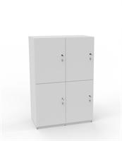 Personlig förvaring Småfacksskåp med 4 dörrar, bredd 80 cm