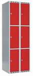 Klädskåp Skåp delad dörr, 3 fack i höjd, B600