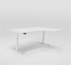 Höj & Sänkbart skrivbord Höj & sänkbart hörnskrivbord höger 160x120 cm