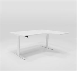 Höj & sänkbart hörnskrivbord höger 160x120 cm
