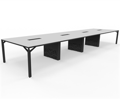 X8 Konferensbord X8 mötesbord längd 520-600 cm, Djup 140 cm