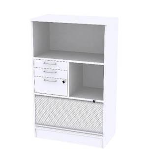 Reflect White Förvaring 3xA4, delat jalusi lådor