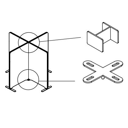 Bild 4-vägsfäste X