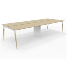 X3 Skrivbord X3 skrivbordsgrupp med träben