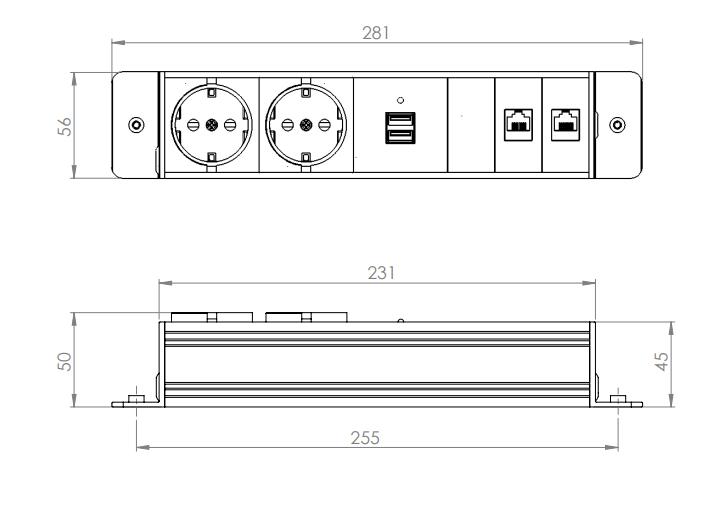 Bild Power inlay med USB-laddare