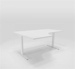 Höj & Sänkbart skrivbord Höj & sänkbart hörnskrivbord vänster 160x120 cm