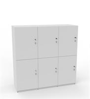 Personlig förvaring Småfackskåp med 6 dörrar låg, bredd 120 cm