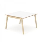 Wood konferensbord Wood mötesbord vitt 140x140 cm