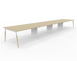 X3 Konferensbord X3 bord med ekben 640x120 cm
