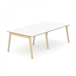 Wood konferensbord Wood mötesbord vitt 240x100 cm