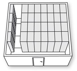 Kompaktarkiv Ritning för kompaktarkiv