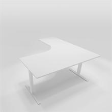 Höj & Sänkbart skrivbord Höj & sänkbart hörnbord vänsterställt 160x180 cm